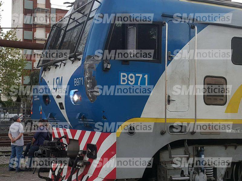 Así quedó la locomotora que debió ser sacada del servicio.
