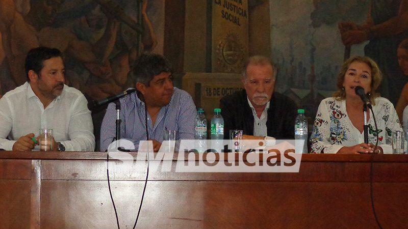 Intendentes peronistas y la cúpula de la CGT homenajearon a Rucci 1