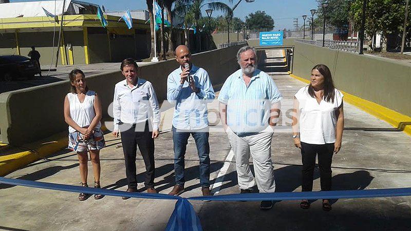 Jaime Méndez inauguró el túnel bajo nivel de la calle Tribulato