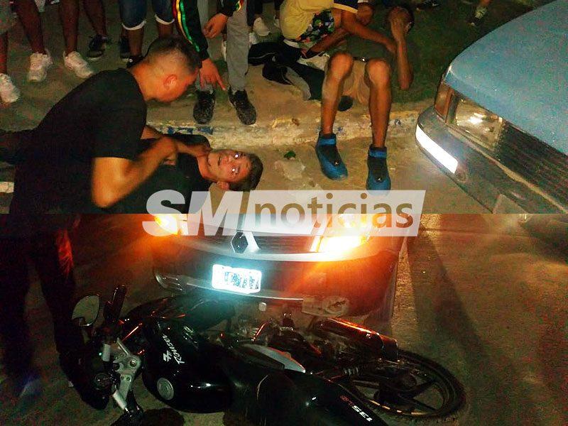 Dos heridos tras accidente entre camioneta y moto en José C. Paz