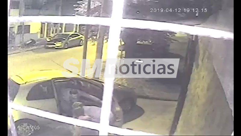 Así le roban el auto a una abuela junto a su nietita en San Martín