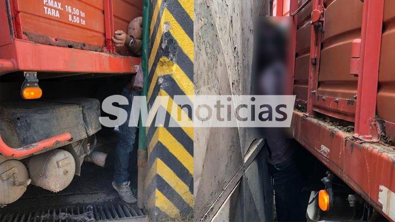Transportaba ganado: Murió aplastado por su propio camión