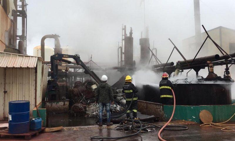 Explosión en una fábrica química del Parque Industrial Pilar