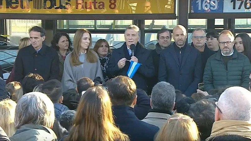 El presidente Macri inauguró la extensión del Metrobus de la Ruta 8 junto a la gobernadora Vidal