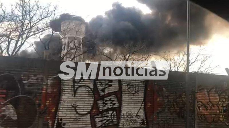 Incendio en el predio de EMFER-TATSA en San Martín