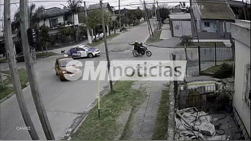 Persecución policial y tiroteo en las calles de Merlo