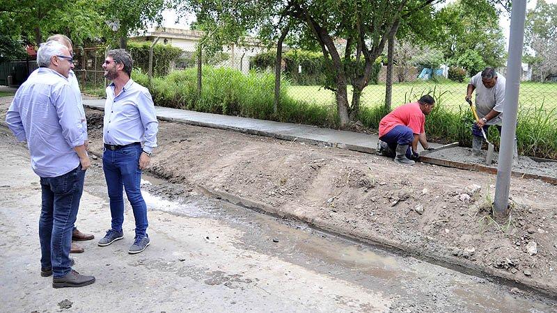 Más de cinco mil vecinos de El Talar, beneficiados con nuevas veredas que construyó el Municipio