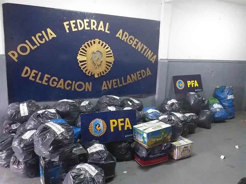 Incautan mercadería ilegal valuada en más de dos millones de pesos en Quilmes