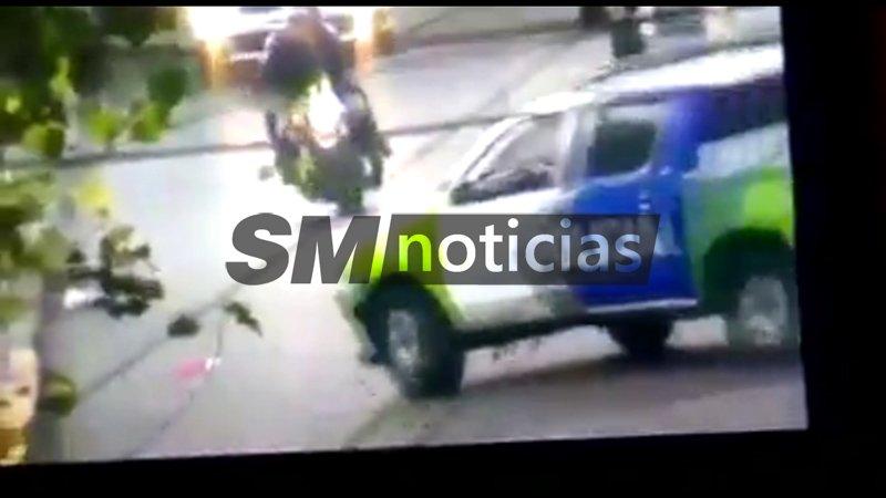 Murió un motochorro al chocar con un patrullero en San Martín