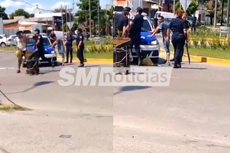 Violenta agresión policial a un cartonero en Zárate