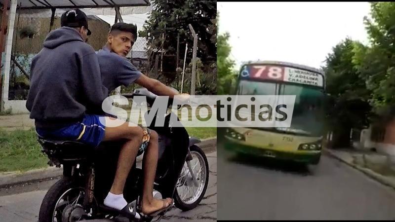 Mirá como hizo este ciclista para zafar de motochorros en Loma Hermosa